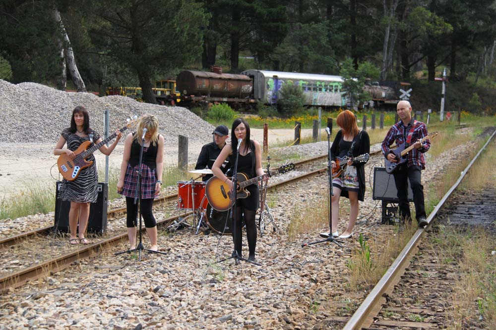 On the track at the Zig Zag Railway